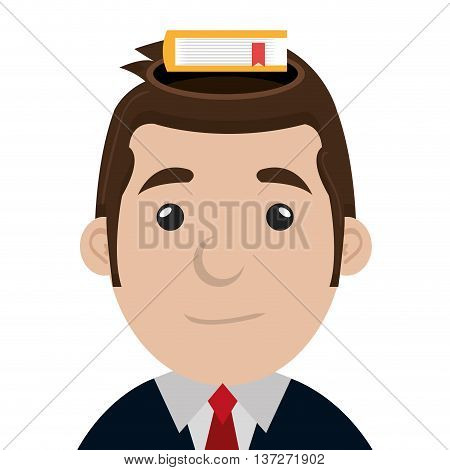 Businessman executive profile cartoon theme design, vector illustration graphic.
