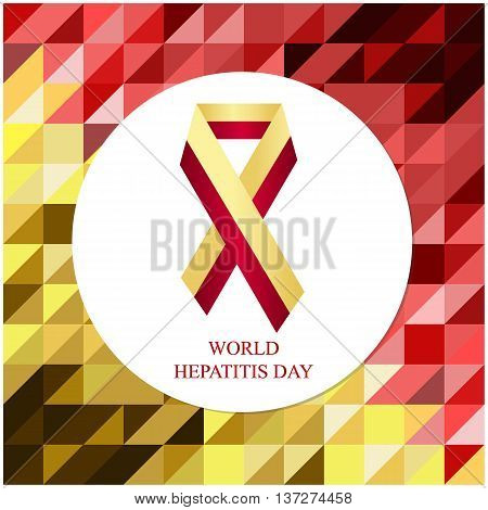 World hepatitis day card or background. vector illustration.