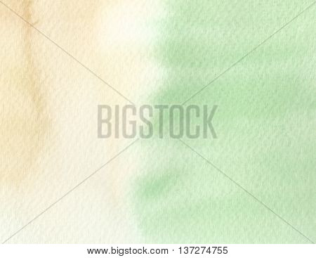 half green yellow tones watercolor abstract background