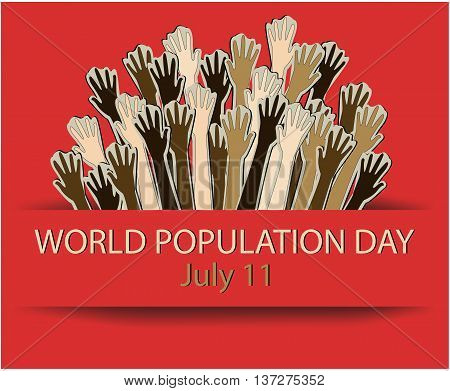 World Population day greeting card or background. vector illustration.