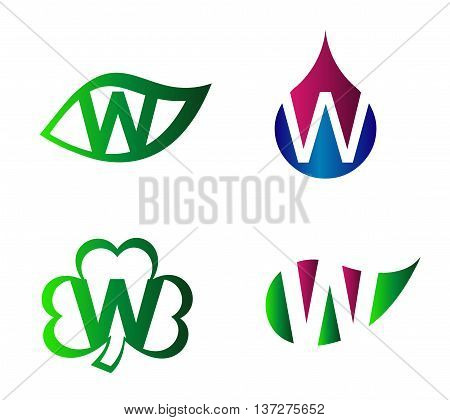 Letter W Logo vector alphabet design element template