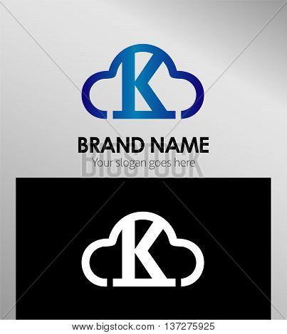 Abstract letter K Design Template template design vector