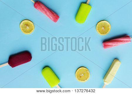 Popsicle Flavored Ice Frozen Dessert Sweeten Tasty Concept