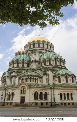 Alexander Nevsky Cathedral in capital city Sofia in Bulgaria.