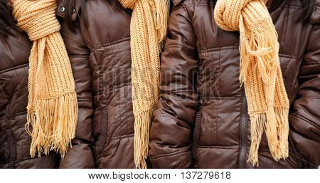 picture of a yellow woolen knitted shawls