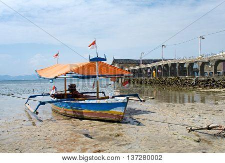 Fisherman's Boat In Bandar Lampung, Sumatra, Indonesia