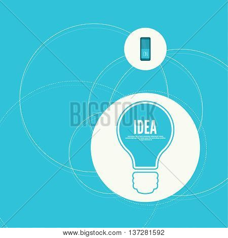 Bulb light idea with switch. concept of big ideas inspiration innovation, invention, effective thinking. inclusion of thinking