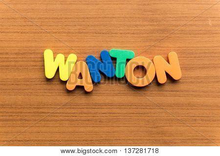 Wanton Colorful Word