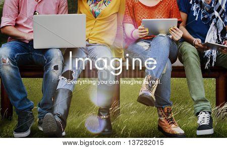 Imagine Imagination Ideas Creative Think Concept
