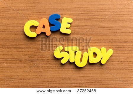 Case Study Colorful Word