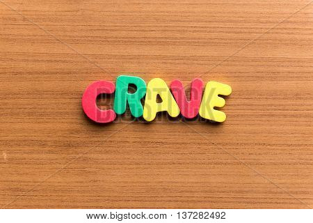 Crave Colorful Word
