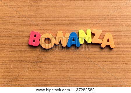 Bonanza Colorful Word