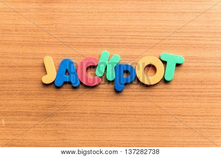 Jackpot Colorful Word