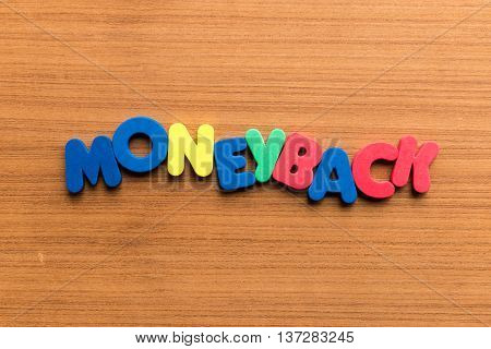Moneyback Colorful Word