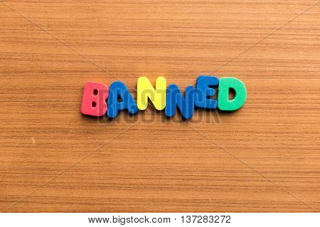 Banned Colorful Word