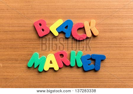 Black Market Colorful Word