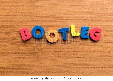 Bootleg Colorful Word