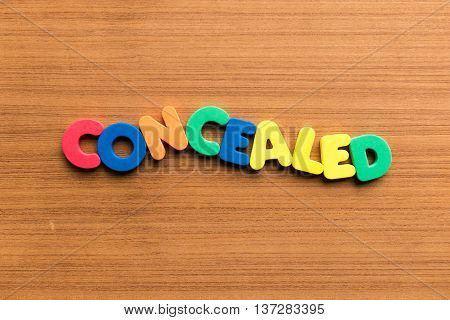 Concealed Colorful Word