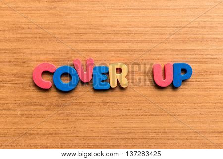 Cover Up Colorful Word