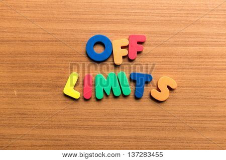 Off Limits Colorful Word