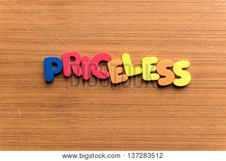 Priceless Colorful Word