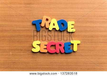 Trade Secret Colorful Word