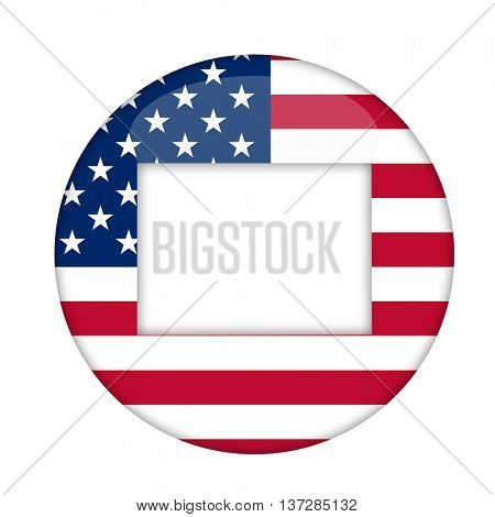Colorado state of America badge isolated on a white background.