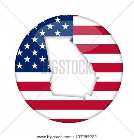 Georgia state of America badge isolated on a white background.
