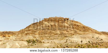 Ancient Nabatean city of Avdat in the Negev desert