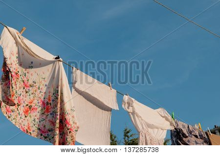 Washing Drying On The Line