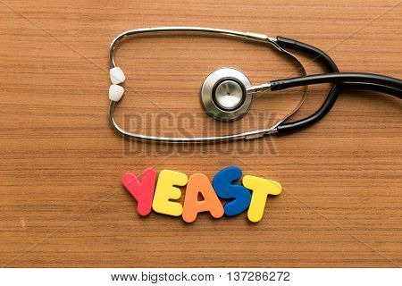 Yeast Colorful Word With Stethoscope