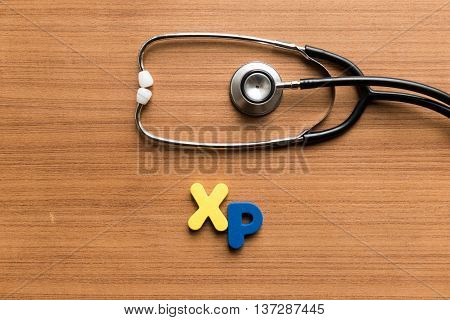 Xp Colorful Word With Stethoscope