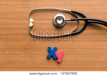 Xy Colorful Word With Stethoscope