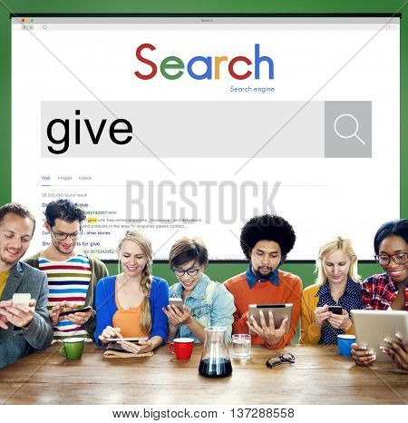 Give Give Back Helping Hand Charity Donate Concept