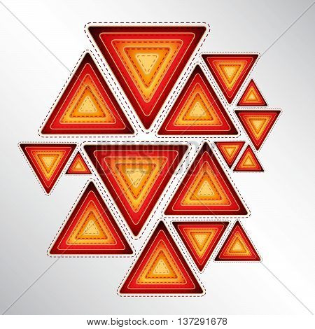 abstract vector background from orange colorful triangles