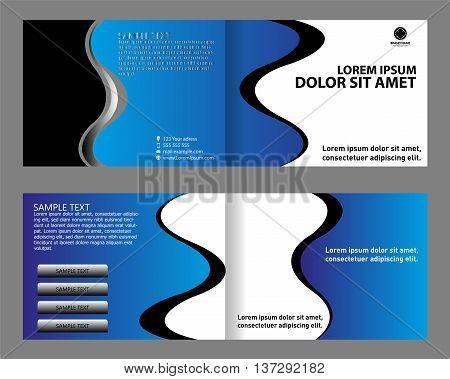 Brochure design set bi-fold template design vector