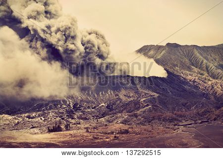 Volcanoes of Bromo National Park Java Indonesia