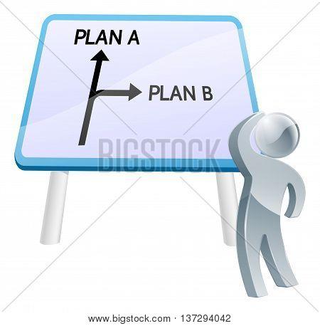 Plan A Or Plan B Sign