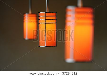 Art deco stye lamps on a cruise liner