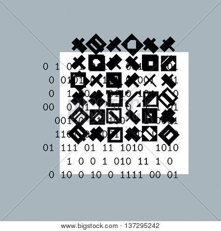 Abstract vector background geometric black and white illustration.