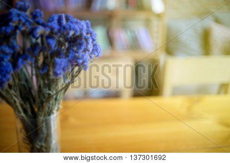 Purple Flower Blur Book Shop Ackground