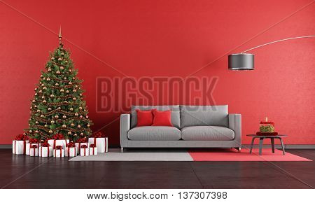 Modern Christmas Living Room
