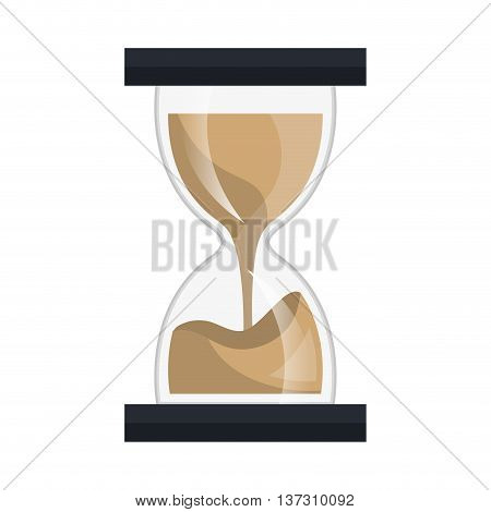 Hourglass or sand clock isolated icon, time and concept design.