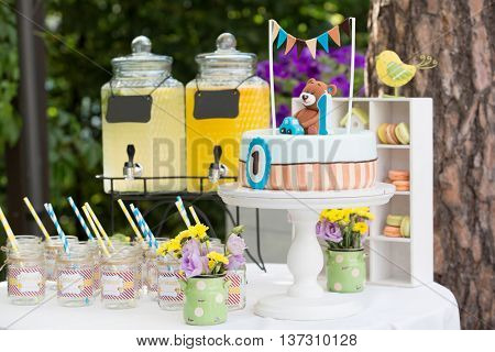 Dessert table for a birthday party