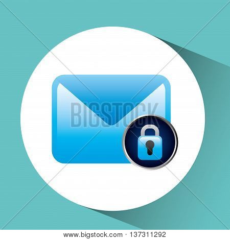 Security mail icon with infomation design vector