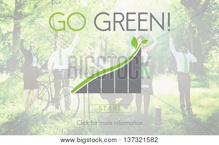 Go Green Business Environment Ecology Concept