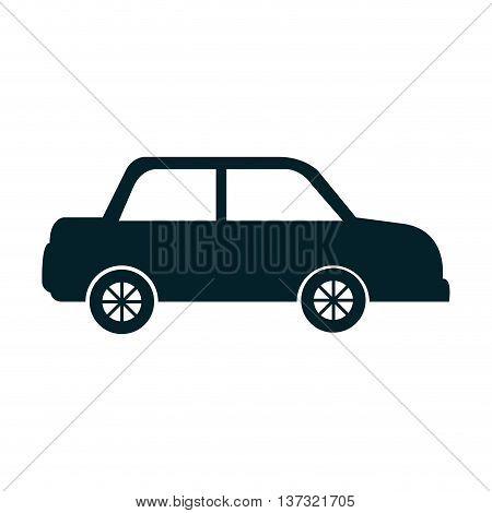 Black car isoalted flat icon, vector illustration graphic design.