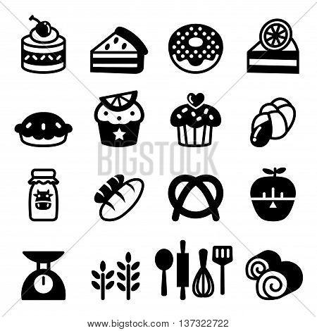 Bakery & Dessert icon set Vector illustration Graphic design