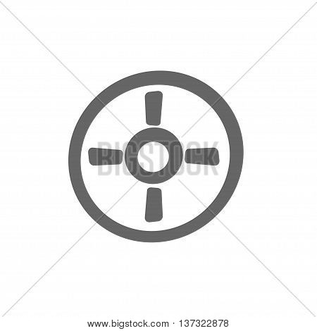simple aiming icon. Targeting frame symbol. Stock vector illustration