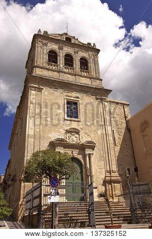 San Giuseppe church facade, Enna, Sicily.